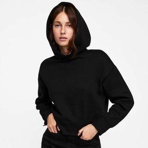 Zara Satin Side Cropped Hoodie